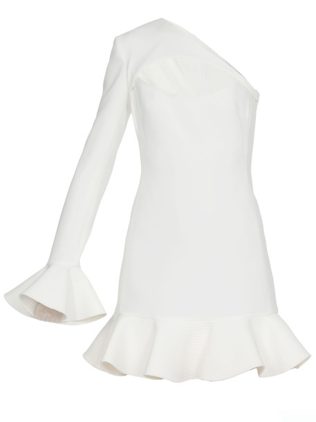 David Koma Asymmetric Dress in white