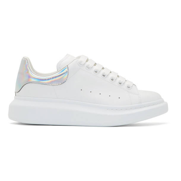 Alexander McQueen SSENSE Exclusive White & Silver Oversized Sneakers