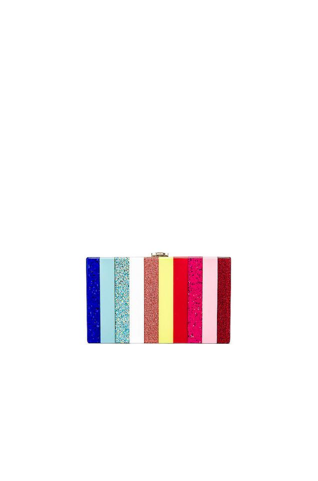 Amber Sceats Stripe Clutch in pink