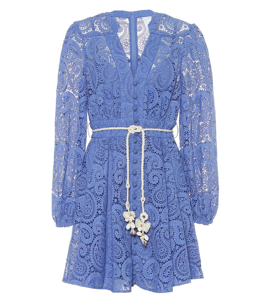 Zimmermann Exclusive to Mytheresa – Broderie-anglaise minidress in blue