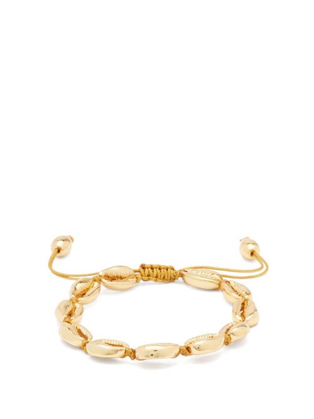 Tohum - Puka Shell Charm 24kt Gold-plated Bracelet - Womens - Gold