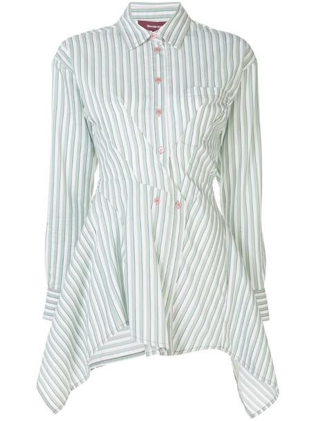 Sies Marjan asymmetric striped shirt in green