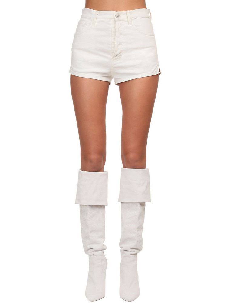 REDEMPTION High Waist Shorts in white