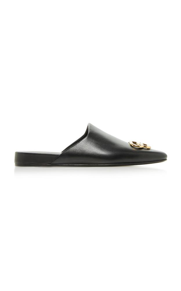 Balenciaga Cosy BB Leather Mules in black