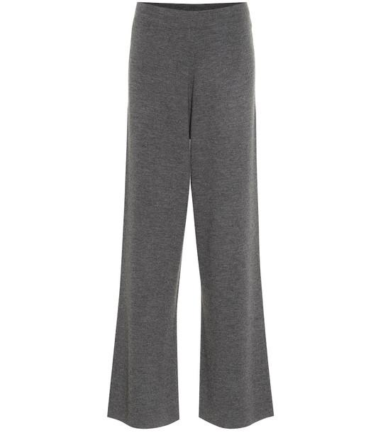 Jardin des Orangers Wool wide-leg pants in grey