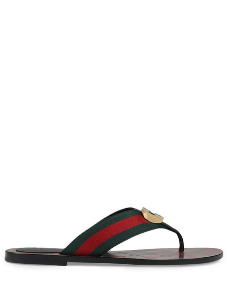 Gucci GG Web sandals in red