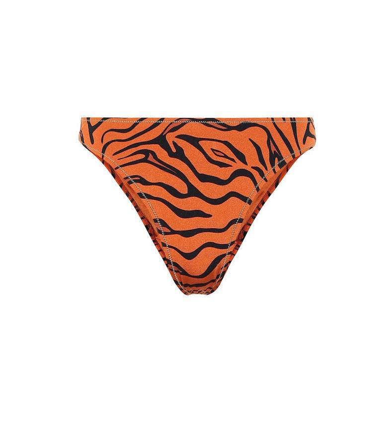 Reina Olga Selvaggia tiger-print bikini bottoms in orange