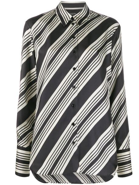 Joseph button-front striped shirt in black