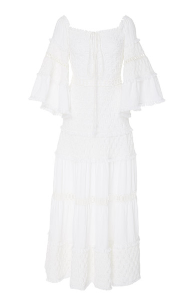 Alexis Guinevere Cotton Dress in white