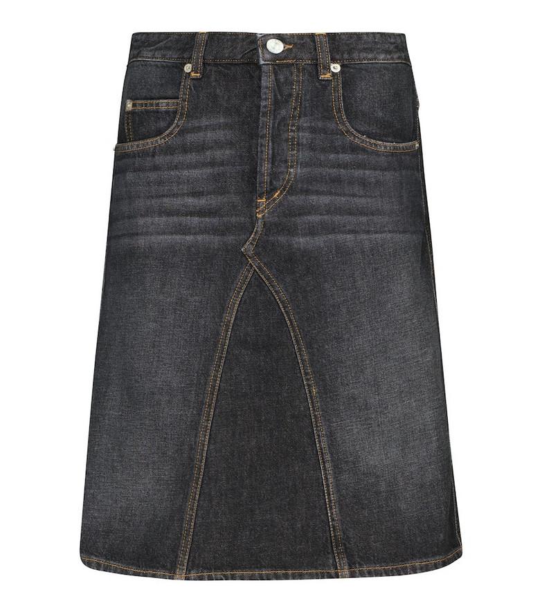 Isabel Marant, Étoile Fiali cotton denim skirt in black