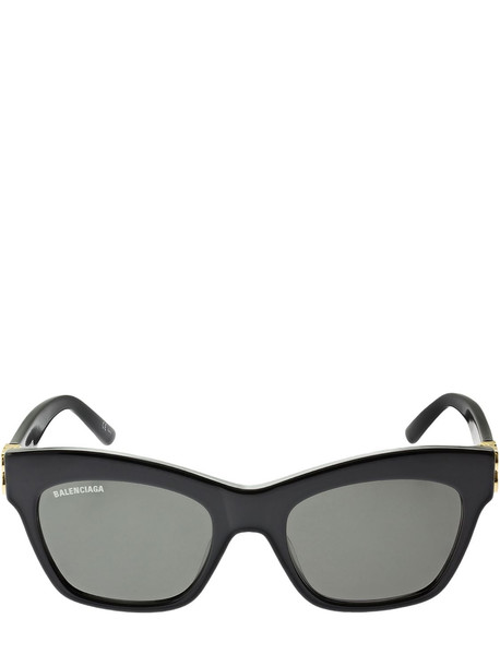 BALENCIAGA Dynasty Butterfly Acetate Sunglasses in black / grey