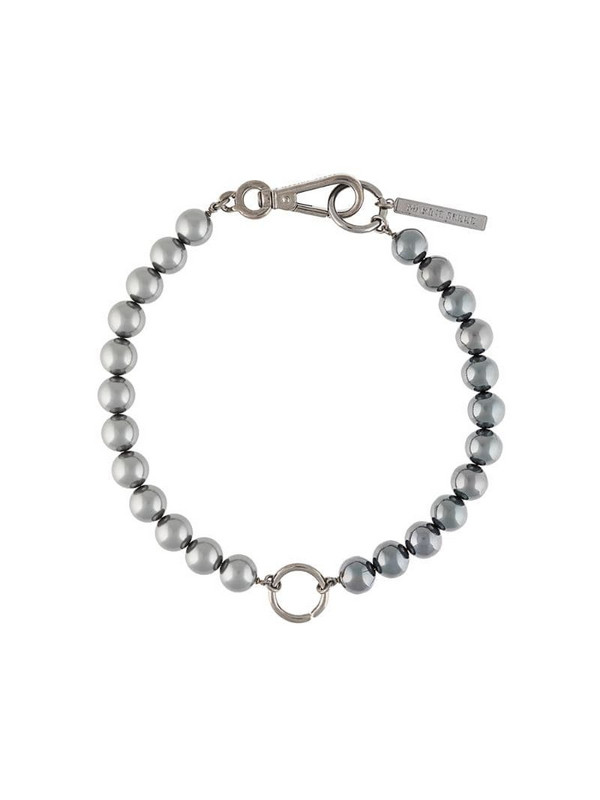 Marine Serre hybrid beaded choker necklace in silver