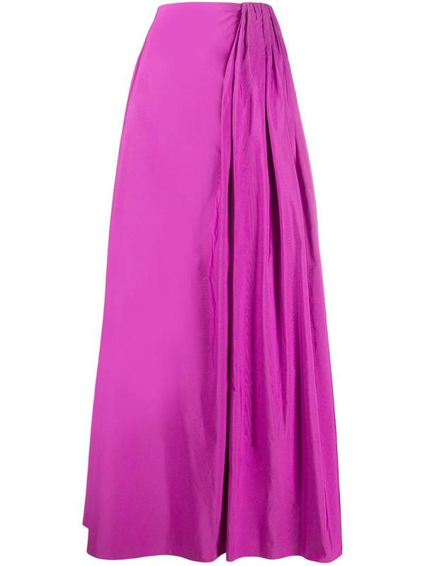 Valentino gathered detailing full skirt in purple