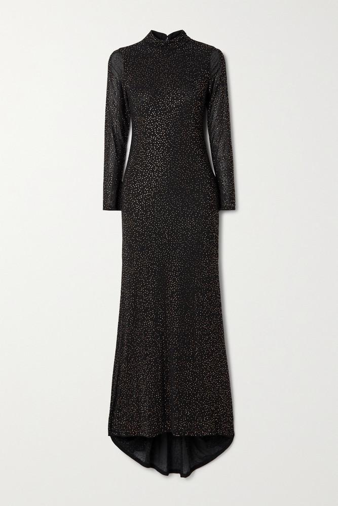 ALICE + OLIVIA ALICE + OLIVIA - Delora Crystal-embellished Tulle Gown - Black