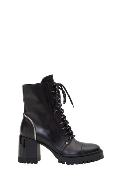Casadei Laced Ankle Boots in nero