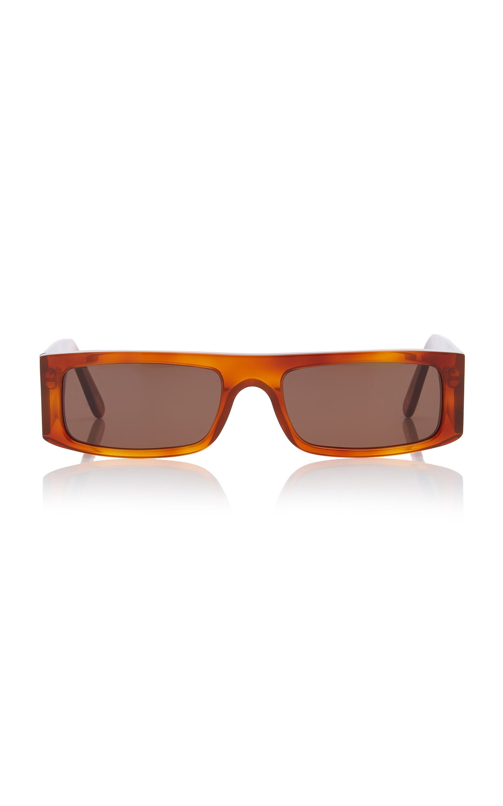 Andy Wolf Eyewear Hume Sun Square-Frame Acetate Sunglasses in brown