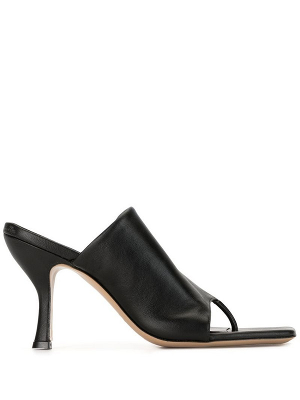 Gia Couture x Pernille Teisbaek mules in black