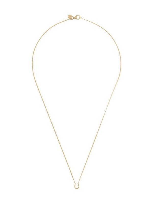 Karen Walker mini horseshoe pendant necklace in gold