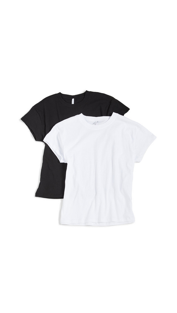 Z Supply Modern Crew Tee Pack in black / white
