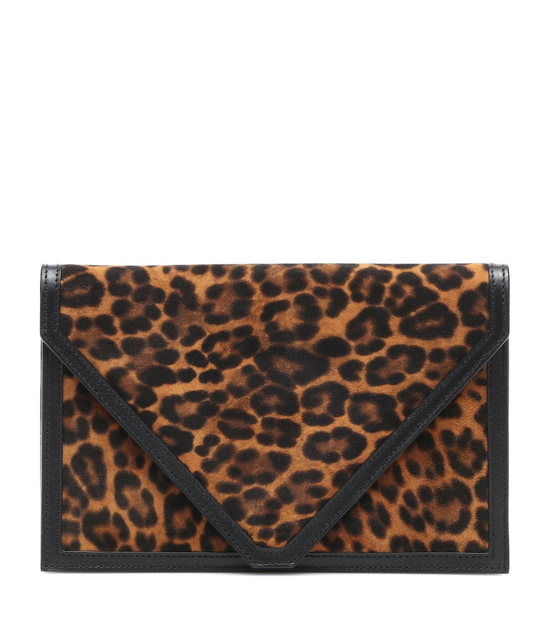 Hunting Season The Envelope leather clutch in black