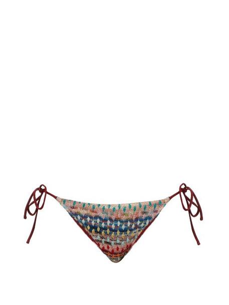 Missoni Mare - Patterned Knitted-mesh Bikini Briefs - Womens - Multi