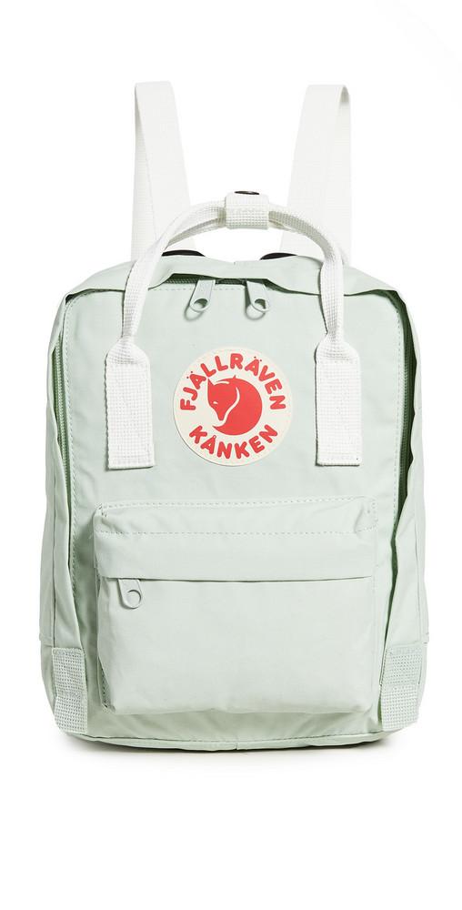 Fjallraven Kanken Mini Backpack in green / white