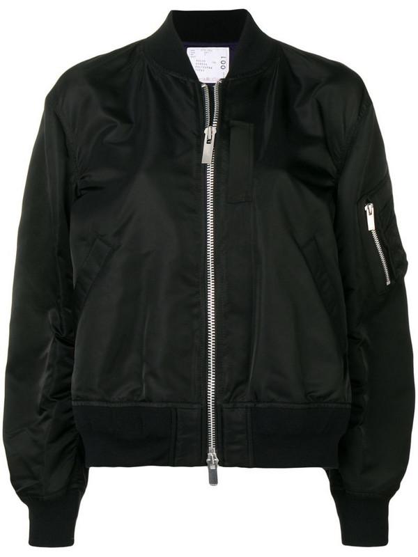 Sacai flight jacket in black