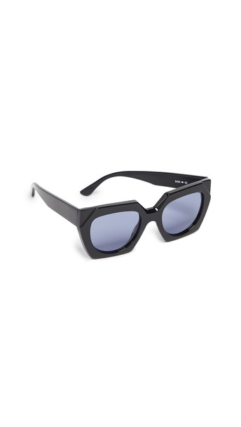 GANNI Double Layered Sunglasses in black