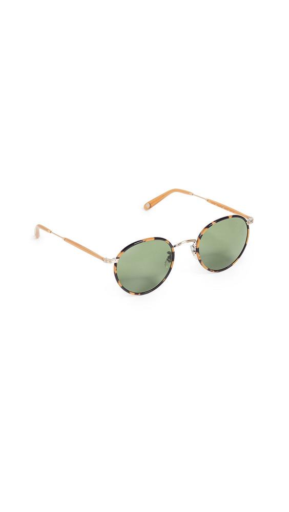 GARRETT LEIGHT Wilson 49 Sunglasses in green