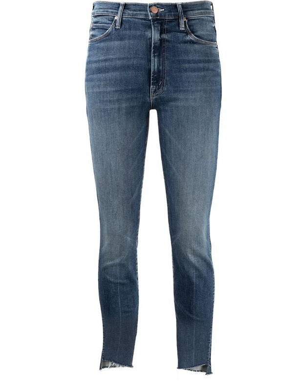Mother Stunner mid-rise skinny jeans in blue