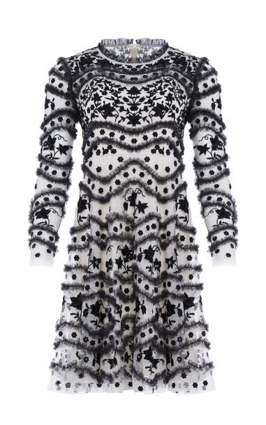 Needle & Thread Ruffle Bloom Dress Size: 6 in black