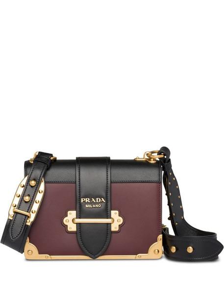 Prada Cahier leather shoulder bag in red