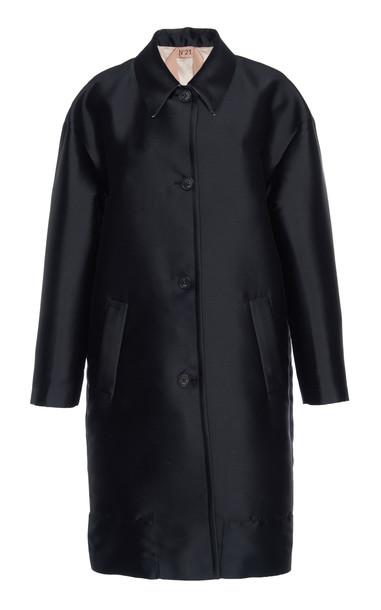 N°21 Adina High-Low Satin Jacket Size: 42 in black