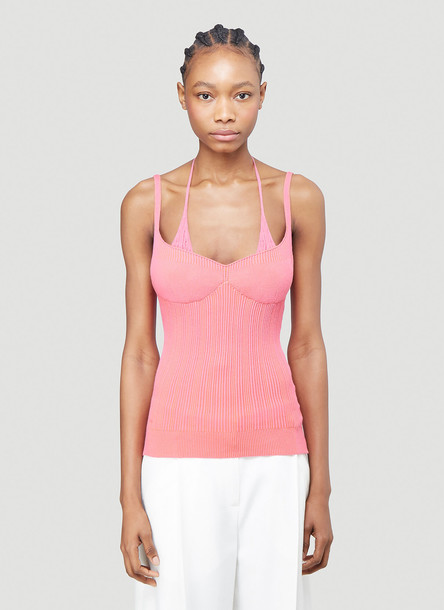 Jacquemus La Maille Valensole Knitted Top in Pink size FR - 38