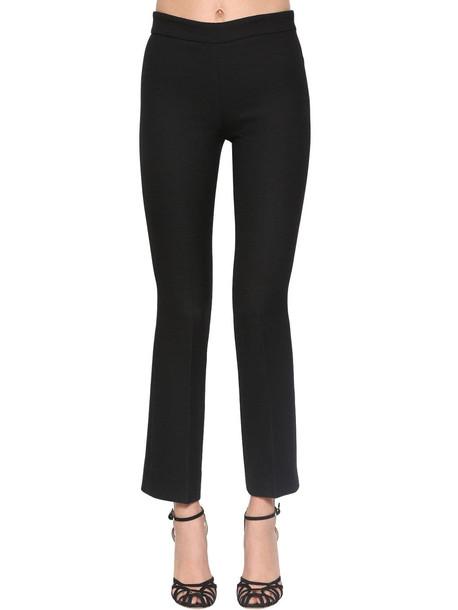 GIAMBATTISTA VALLI Straight Virgin Wool Crepe Pants in black