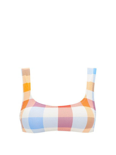 Solid & Striped - The Elle Gingham Scoop-neck Bikini Top - Womens - Multi