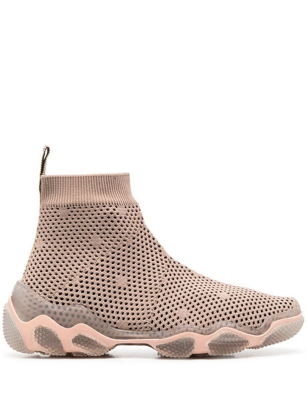 RedValentino RED(V) Glam Run high-top sneakers in neutrals