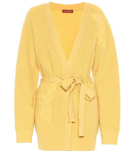 Altuzarra Jareth wool and cashmere cardigan in yellow