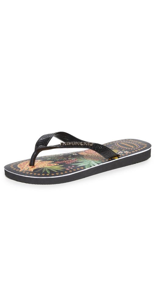 Havaianas x Farm Rio Tropical Sandals in black