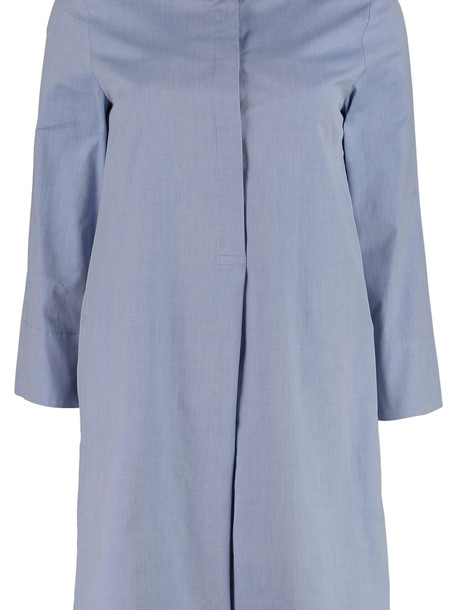 Max Mara Studio Felix Cotton Shirtdress in blue
