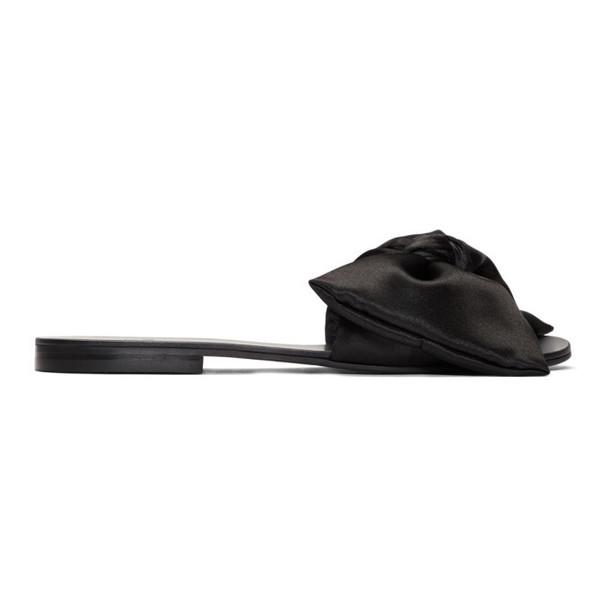 Le Petit Trou Black Cleo Slides