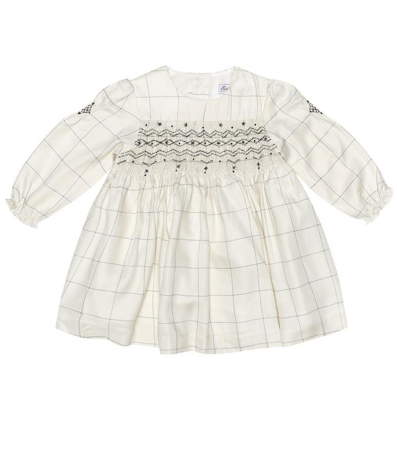 Tartine et Chocolat Baby smocked dress in white