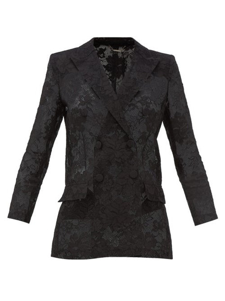 Givenchy - Bonded Floral-lace Blazer - Womens - Black