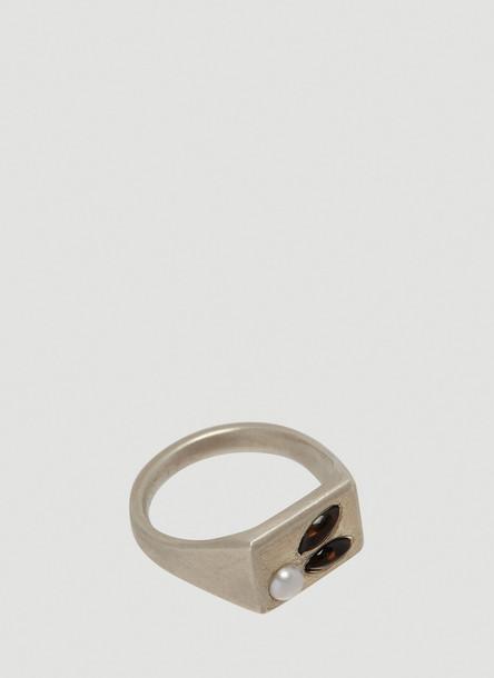 Mass Awakened Quartz Ring in Silver size N