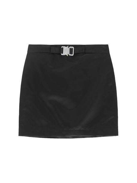 1017 ALYX 9SM Satin Mini Skirt W/buckle Detail in black