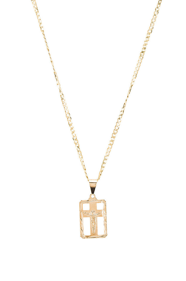 The M Jewelers NY The Martina Cross Pendant Necklace in gold / metallic