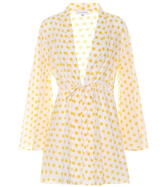 Alexandra Miro Exclusive to Mytheresa – Betty dotted cotton cover-up in yellow