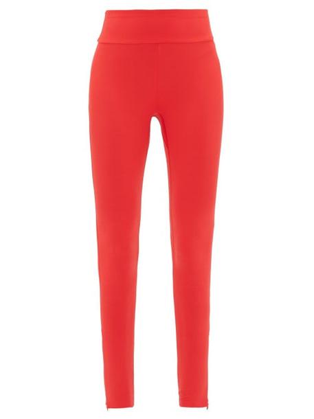 Vaara - Lillie Zipped-cuff Performance Leggings - Womens - Red Multi
