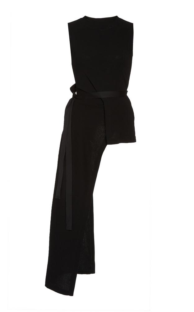 Rosetta Getty Knit Apron Top in black