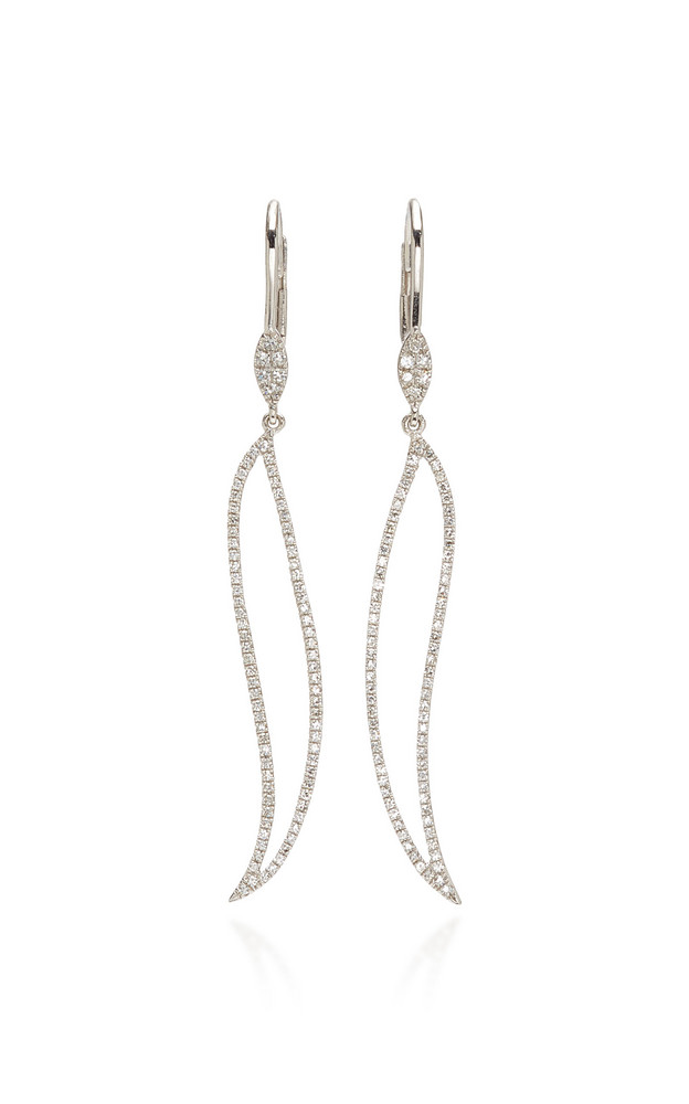 Meira T 14K Gold Diamond Earrings in white